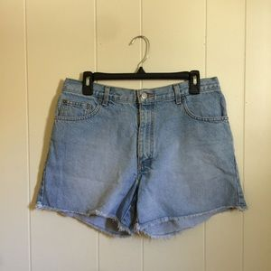 Vintage high rise 90's jean cutoff shorts 10